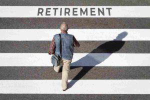 Scene of a senior man walking in a cebra crossing towards ideal retirement lifestyle